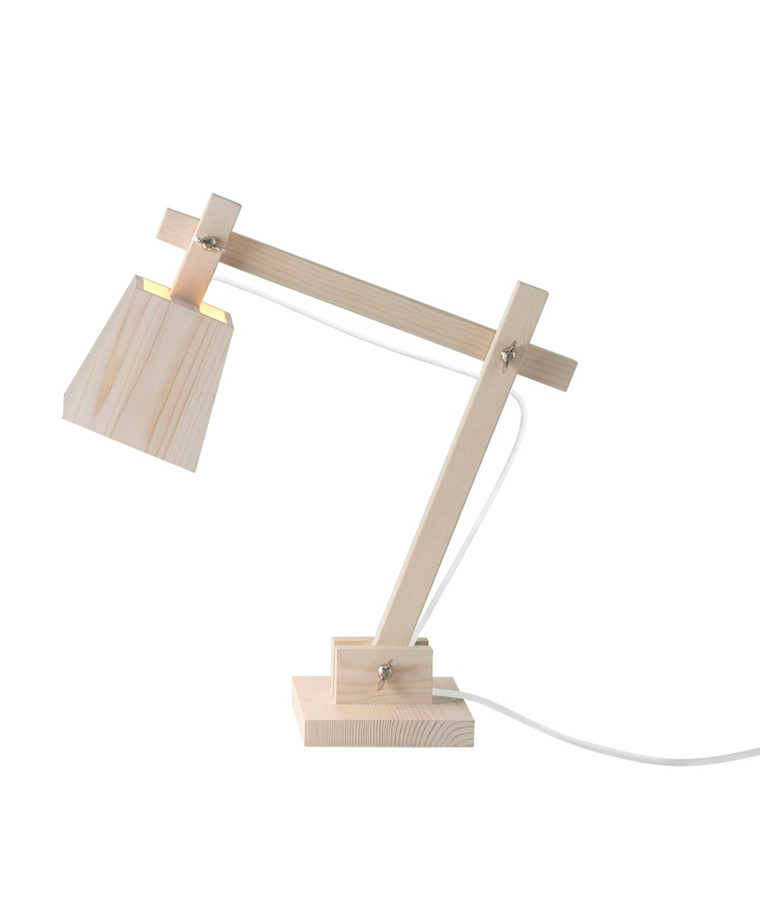 Wood Bordlampe Pine w. White Cord - Muuto