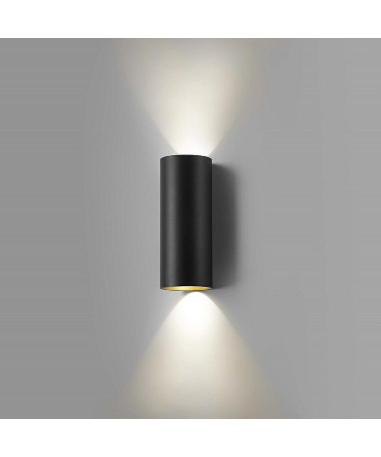 Zero W2 LED Væglampe Sort/Guld - LIGHT-POINT