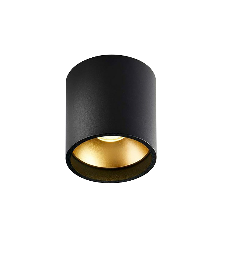 Solo Rund Loftlampe Sort/Guld - LIGHT-POINT