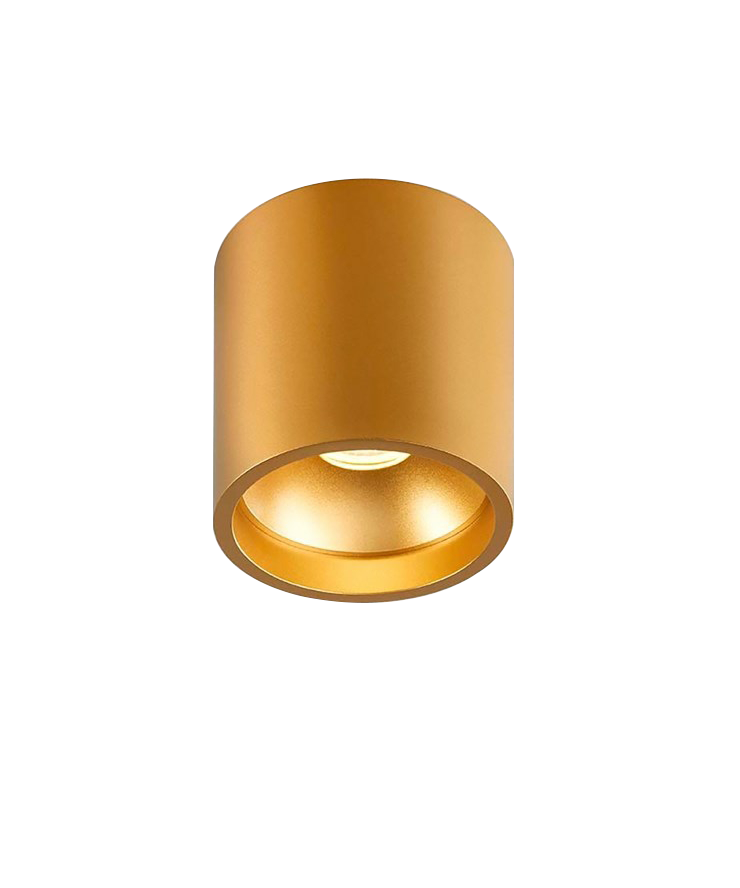 Solo Rund Loftlampe Guld - LIGHT-POINT