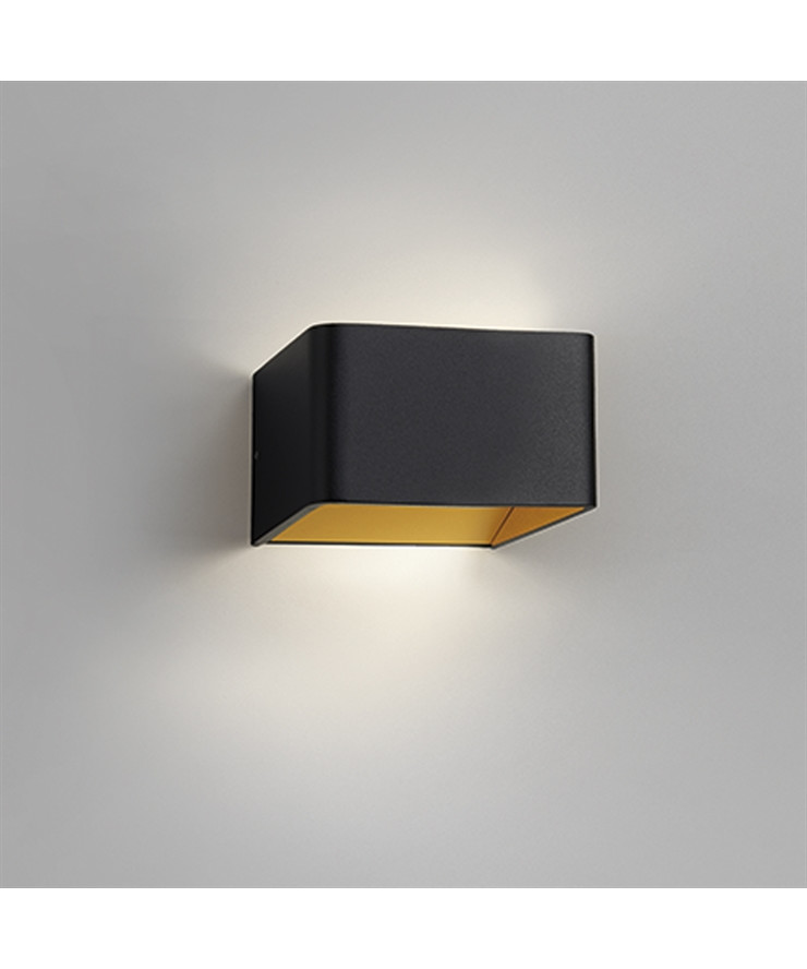 Mood 1 LED Væglampe Sort/Guld - LIGHT-POINT