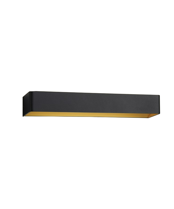 Mood 3 LED Væglampe Sort/Guld - LIGHT-POINT