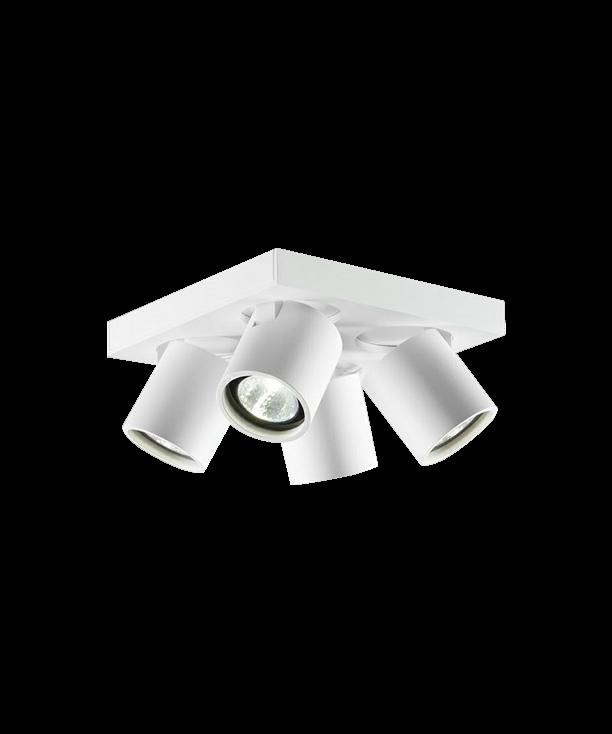 Focus Mini 4 Loftlampe Hvid - LIGHT-POINT