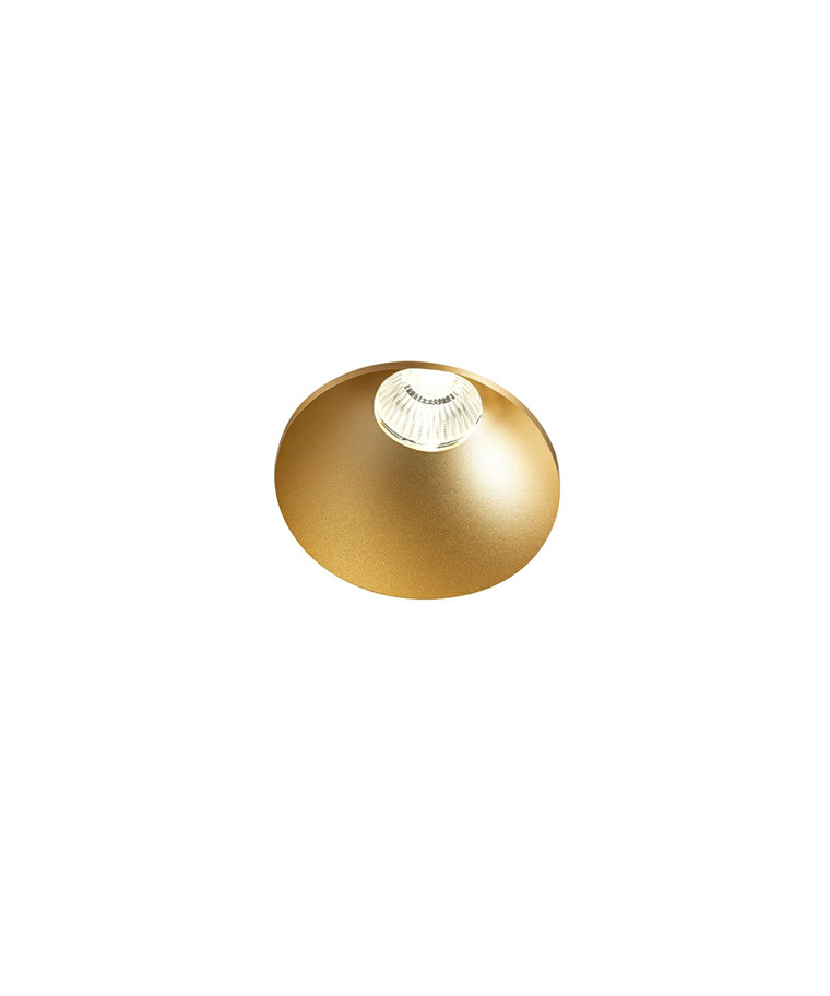 Curve Round Trimless Loftlampe Guld - LIGHT-POINT