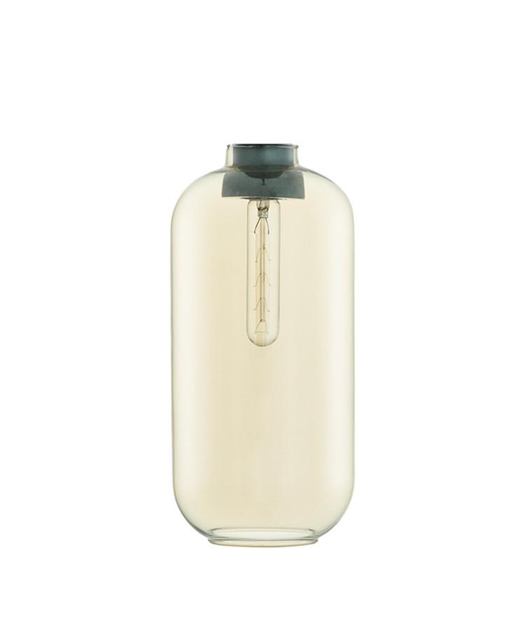 Amp Glas t/Large Pendel Guld - Normann
