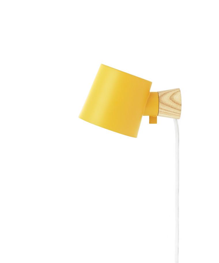 Rise Væglampe Petrol Gul - Normann