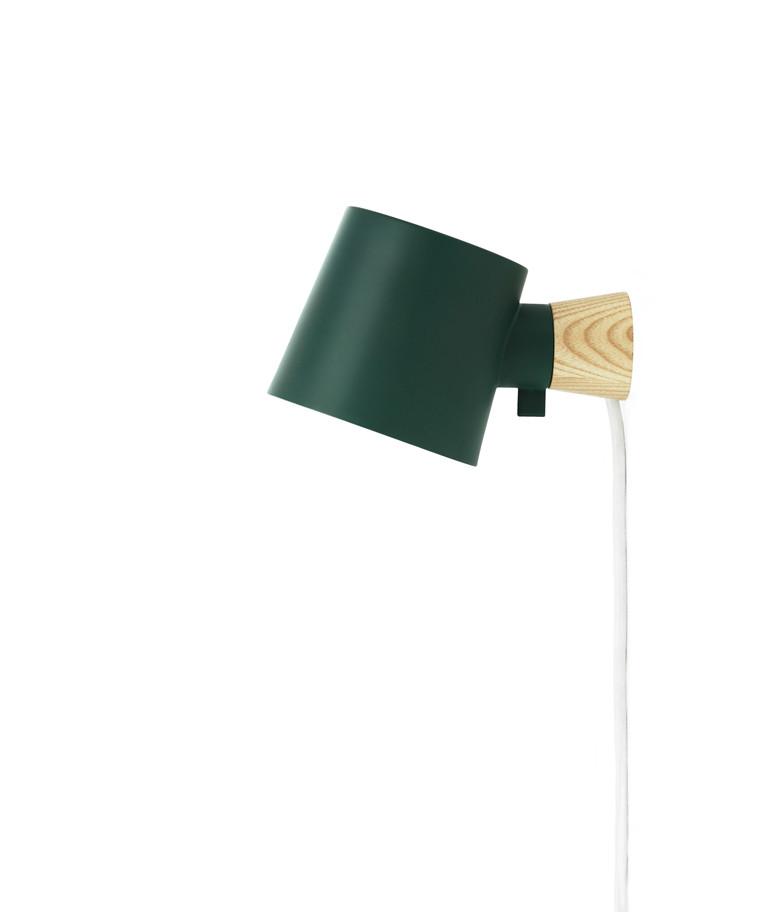 Rise Væglampe Petrol Grøn - Normann