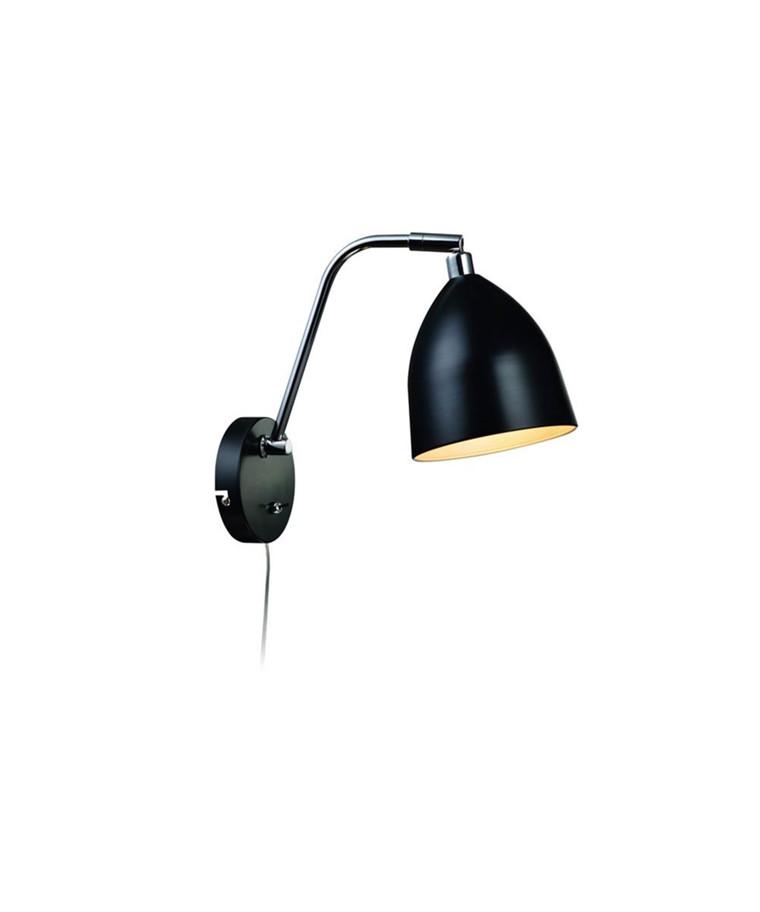Fredrikshamn Væglampe Sort - Markslöjd