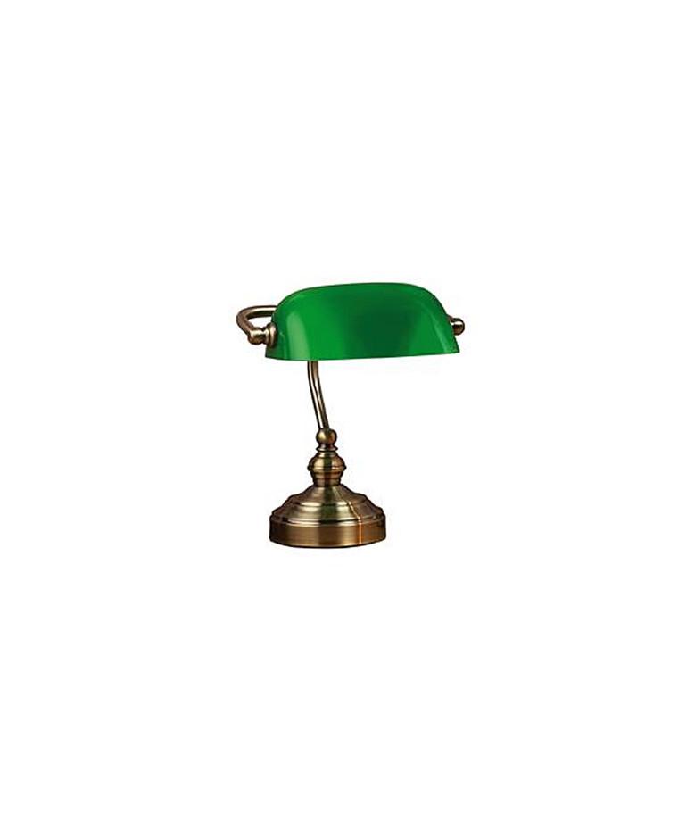 Bankers Bordlampe 25Cm Oxide/Grøn - Markslöjd