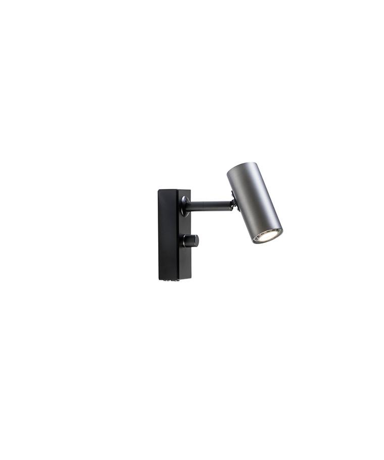 Cato Væglampe Oxidgrå/Sort LED Enkel - Belid