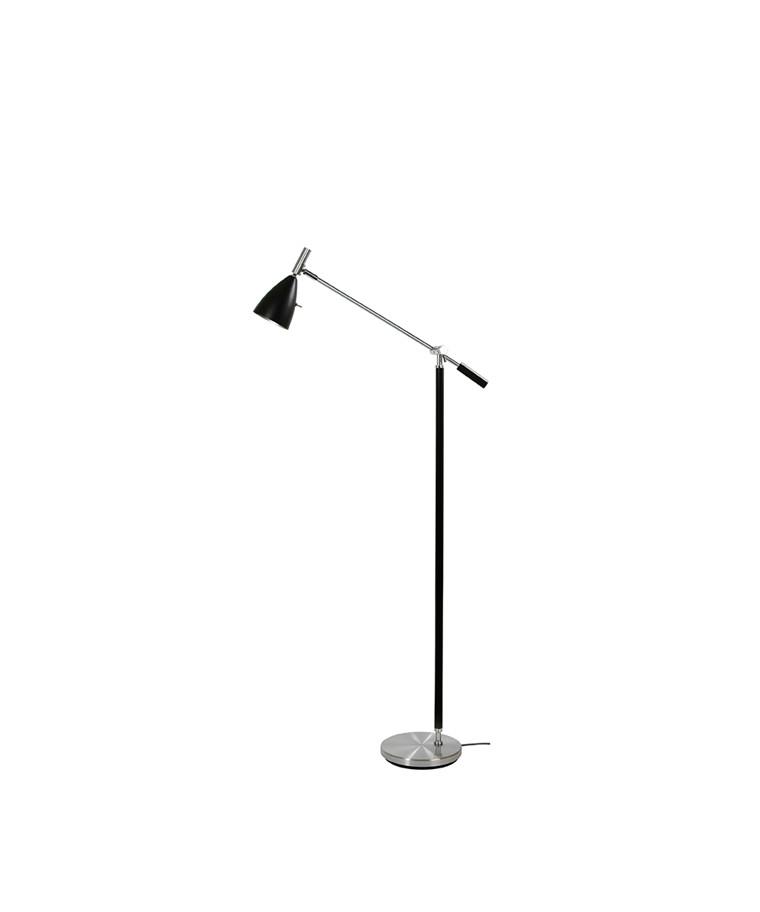 Frank 2.0 Gulvlampe Alu/Sort LED Dæmpbar - Belid