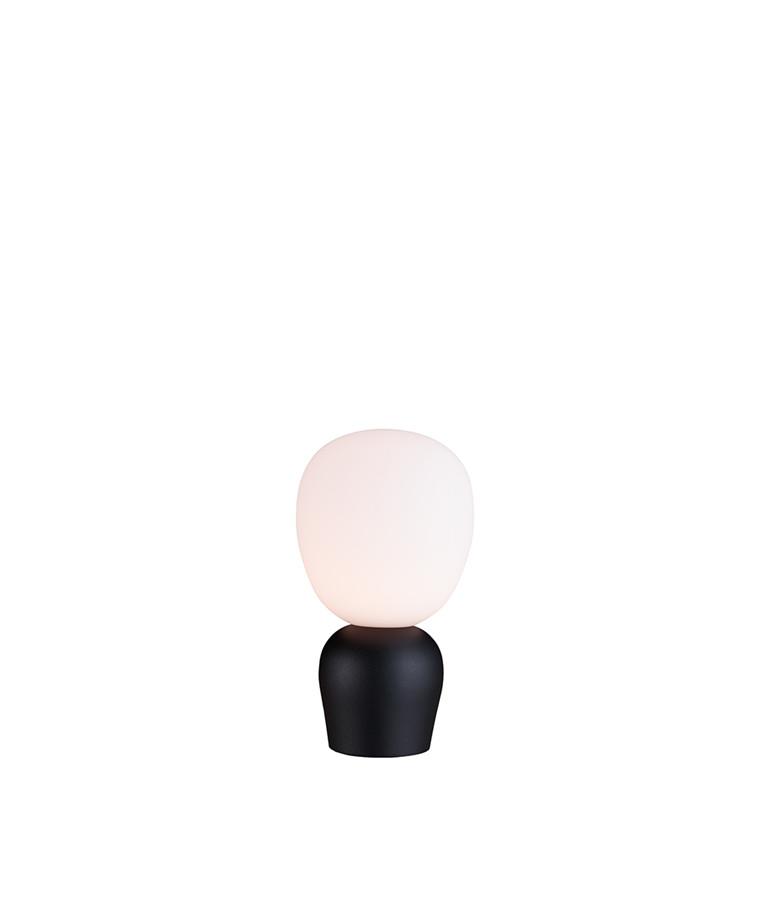 Buddy Bordlampe Sortstruktur/Opal - Belid