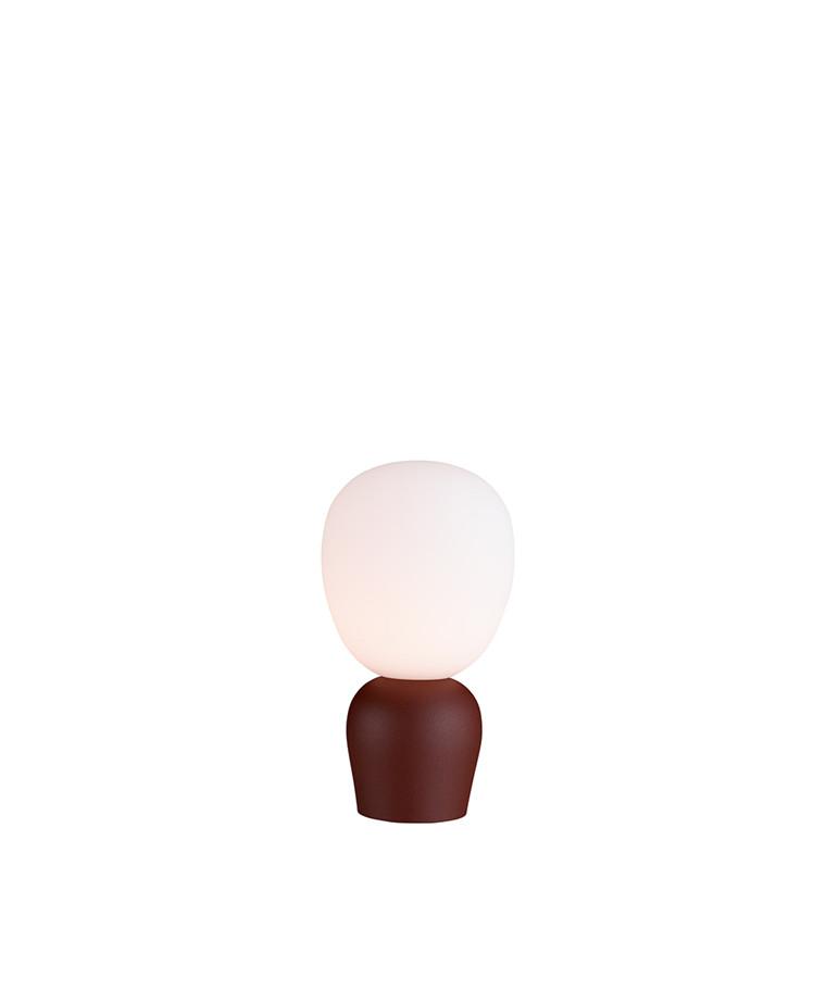 Buddy Bordlampe Mørk Ruststruktur/Opal - Belid