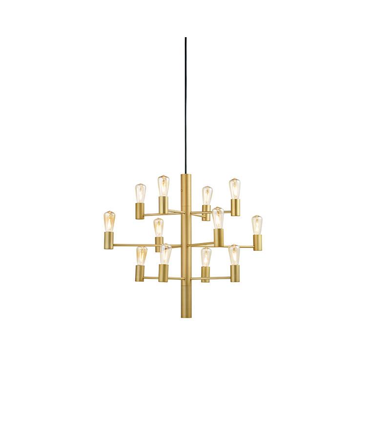 Manola Lysekrone (12) Golden Dæmpbar LED - Belid
