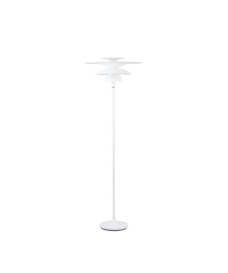 Picasso Gulvlampe Ø500 Mat Hvid LED - Belid