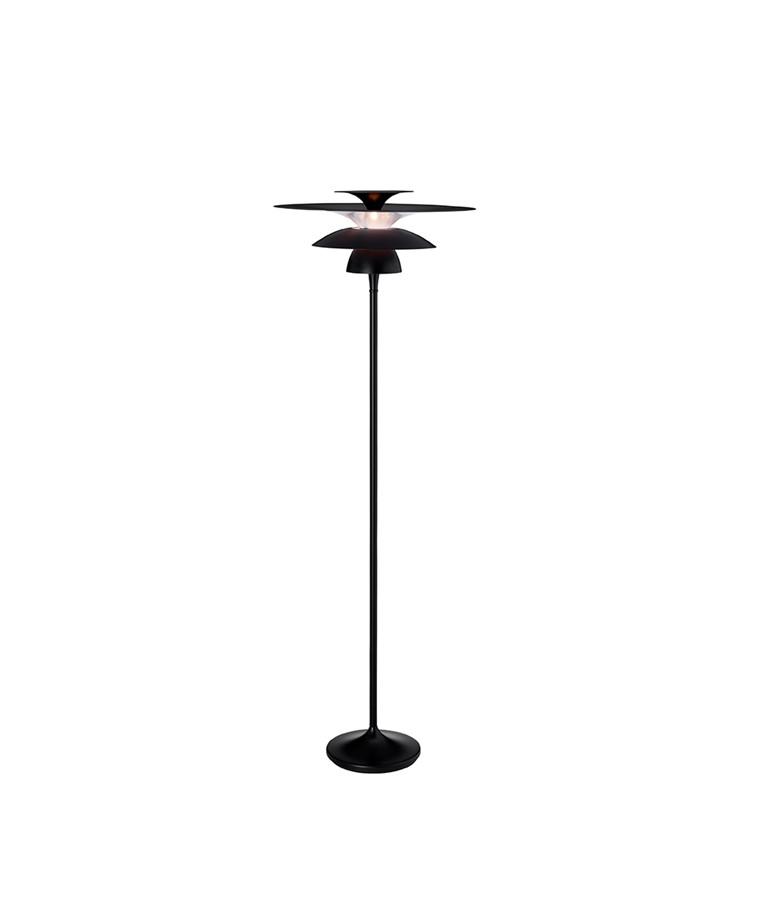 Picasso Gulvlampe Ø500 Mat Sort LED - Belid