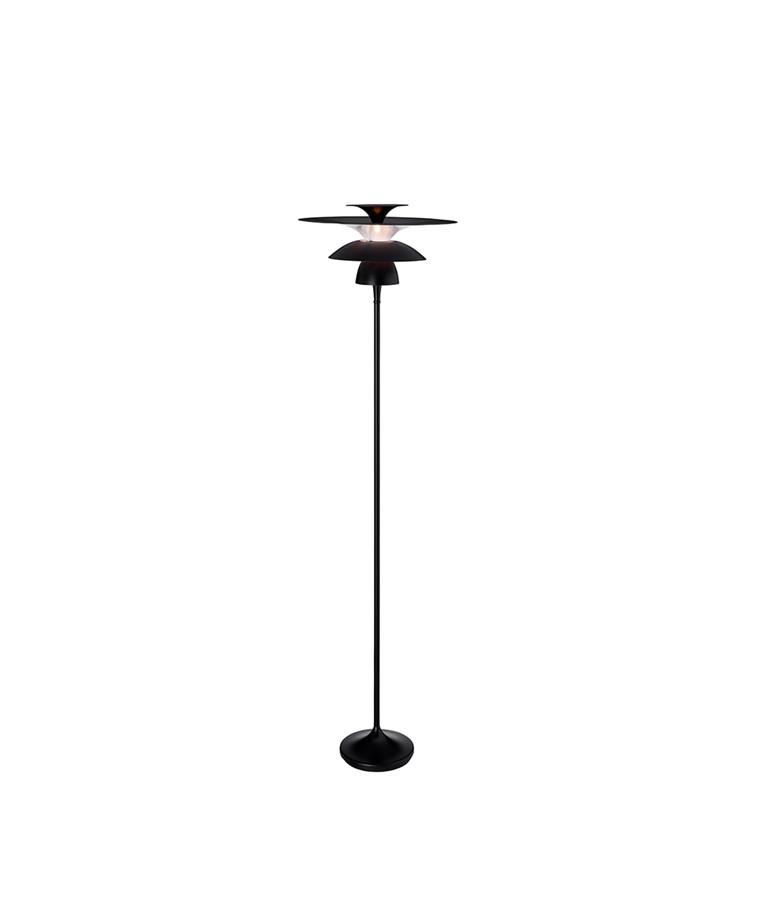 Picasso Gulvlampe Mat Sort Ø380 LED - Belid