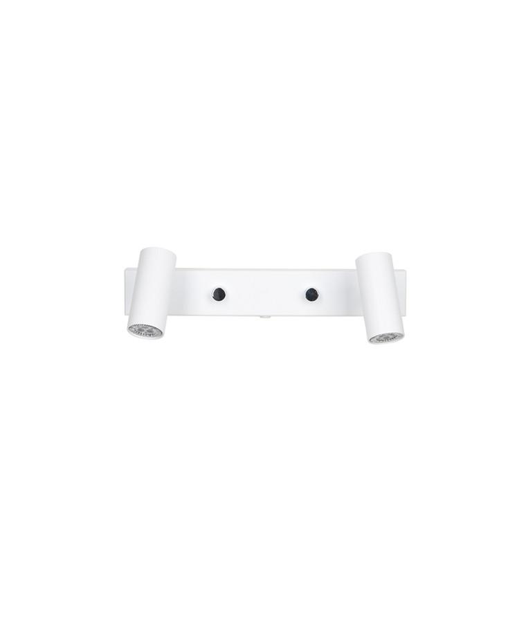 Cato Væglampe Mat Hvid Dobbelt LED - Belid