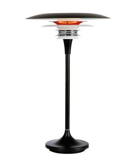 Diablo Bordlampe Ø300 Mat Sort/Rød - Belid
