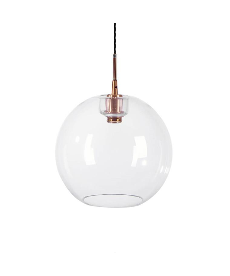 Gloria Pendel Ø320 Kobber/Klar Glas E27 - Belid