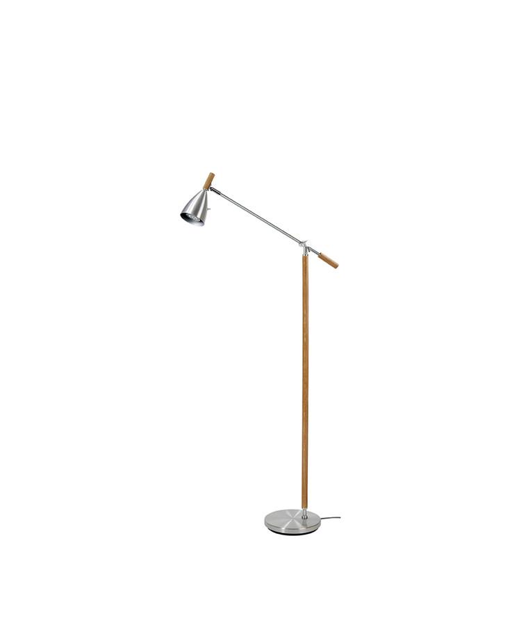 Frank 2.0 Gulvlampe Alu/Eg LED Dæmpbar - Belid