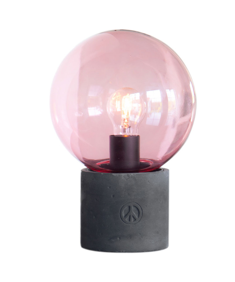 Peacebubble Bordlampe H30Cm Rosa - By Rydéns