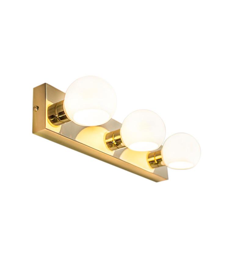 Igloo Væglampe 3 Messing/Hvid - By Rydéns