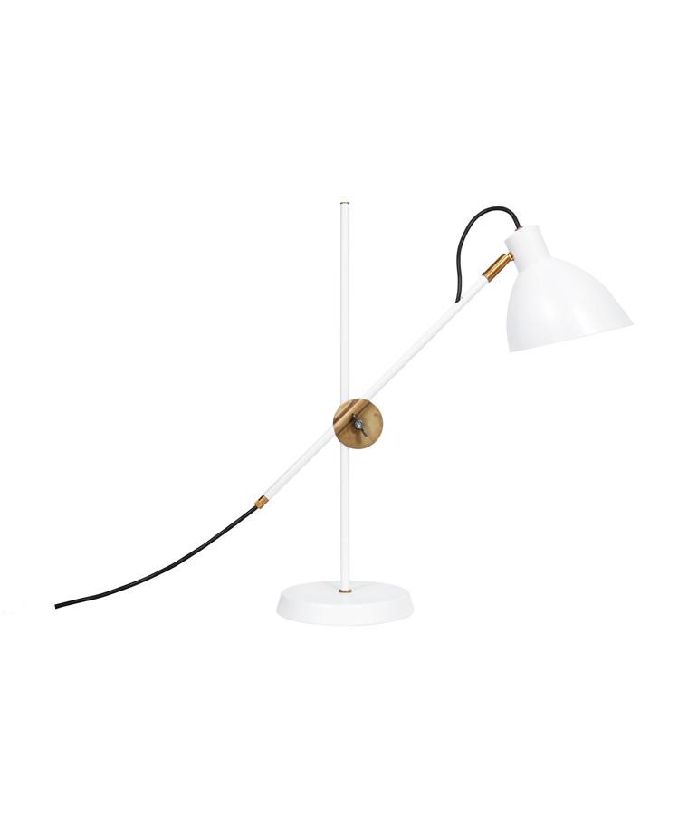 KH#1 Hvid Rå Messing Bordlampe - KonstHantverk