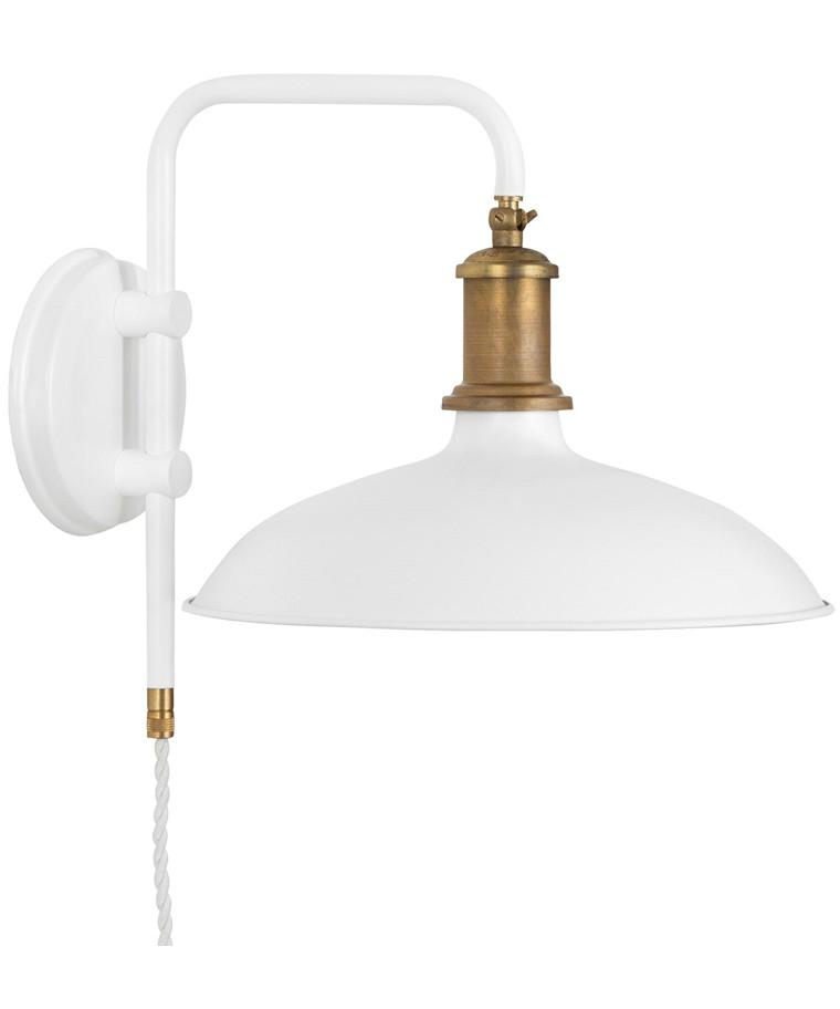 Kavaljer Væglampe Mat Hvid/Rå Messing - KonstHantverk