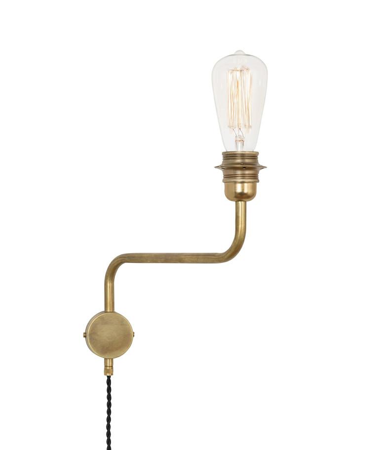 Edison Væglampe Up Rå Messing - KonstHantverk