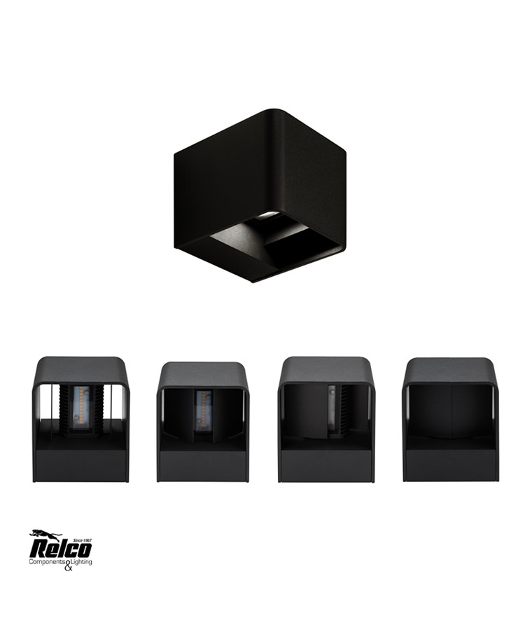 Su & Giu LED W1 Væglampe Sort - Raxon