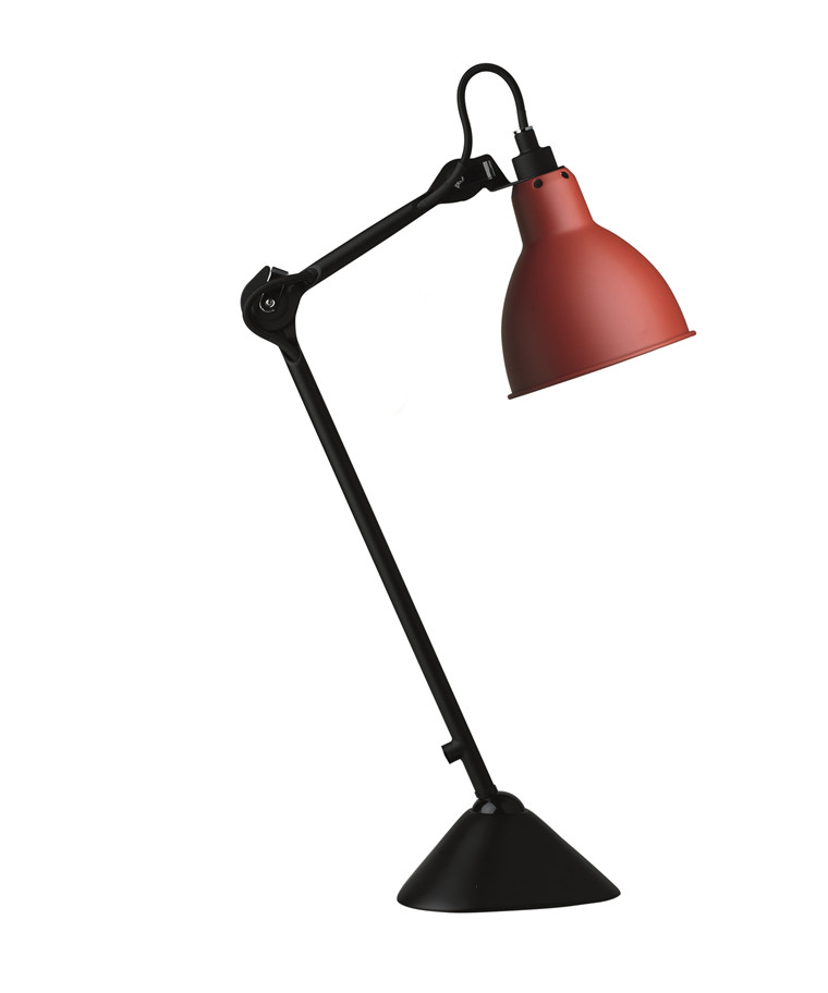 205 Bordlampe Rød/Sort - Lampe Gras