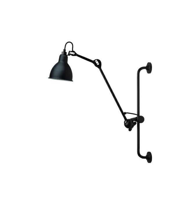 210 Væglampe Sort/Satin - Lampe Gras