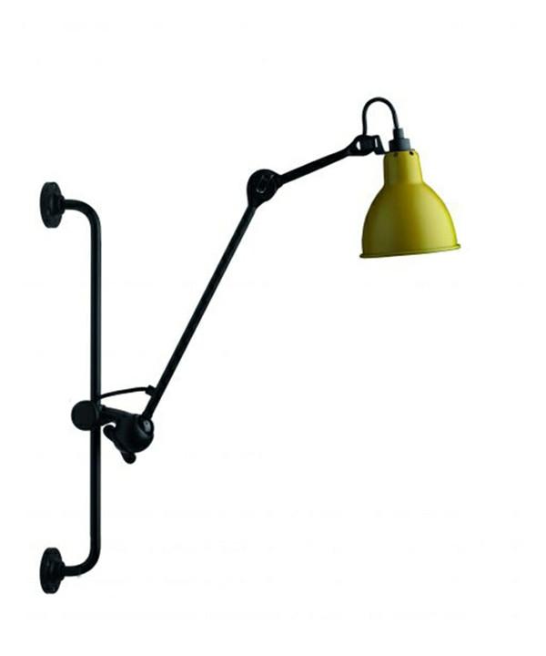 210 Væglampe Gul/Sort - Lampe Gras