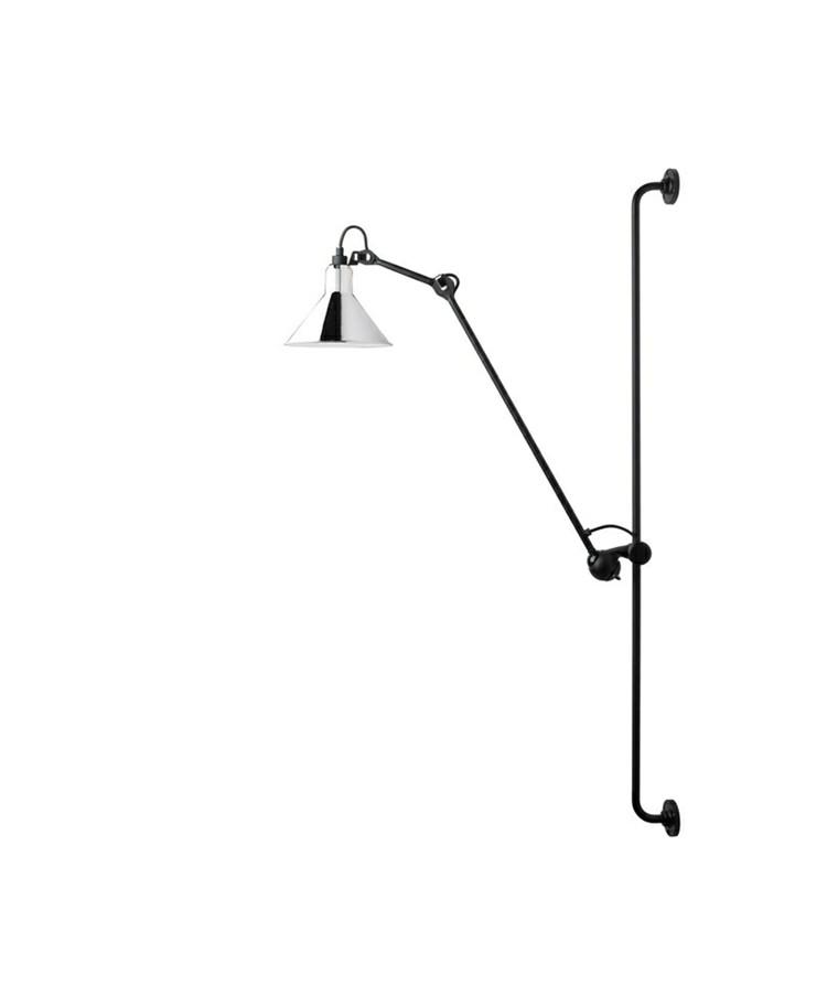 214 Væglampe Krom - Lampe Gras