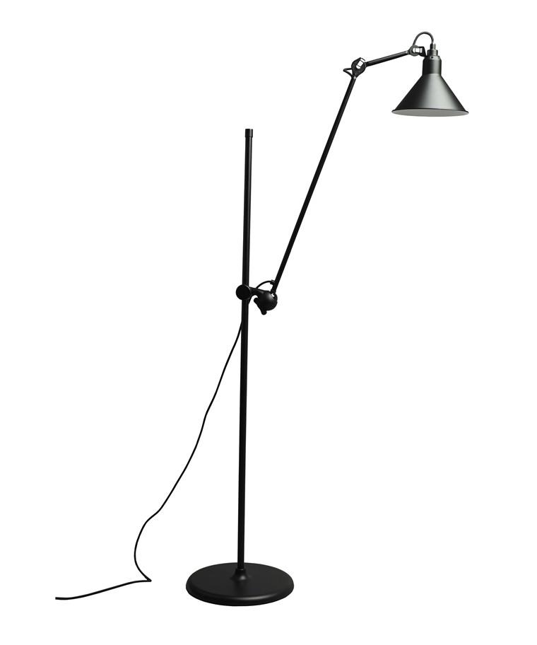 215 Gulvlampe Sort - Lampe Gras