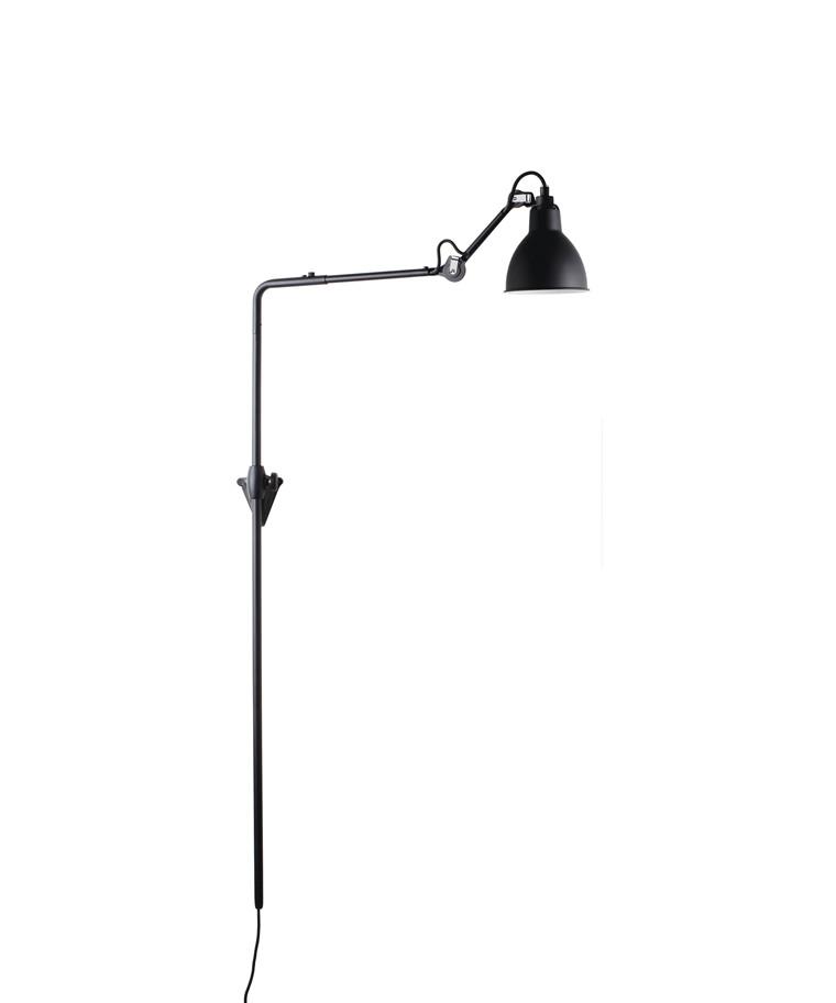 216 Væglampe Sort - Lampe Gras