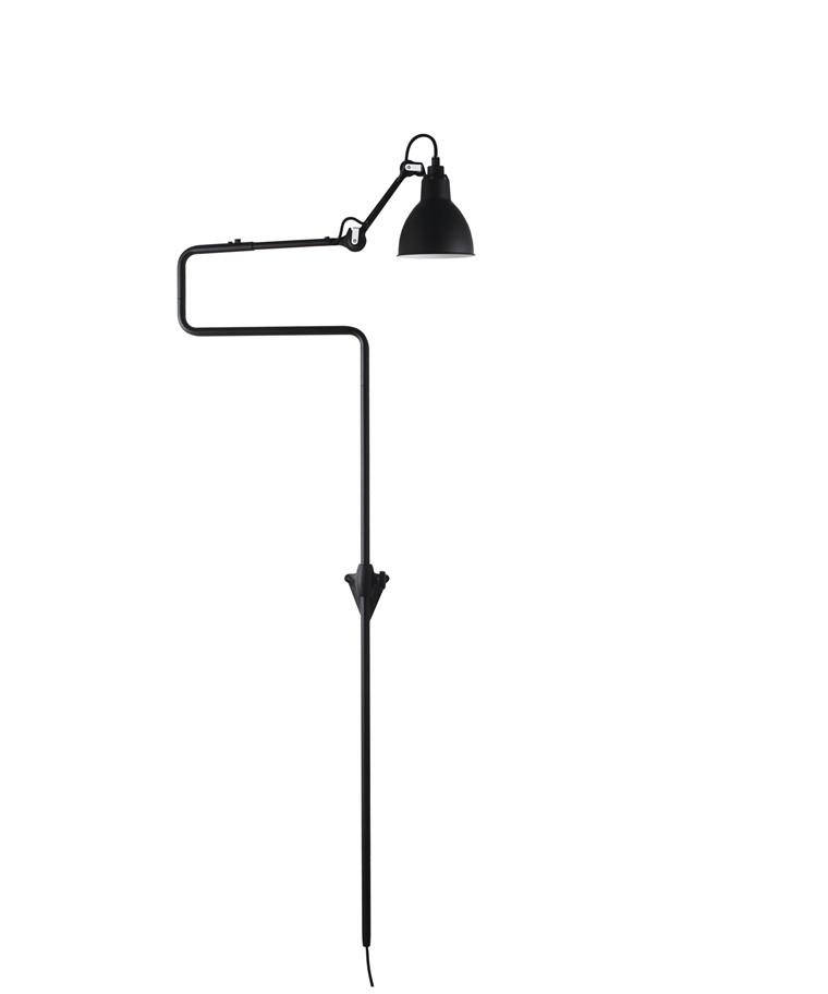 217 Væglampe Sort - Lampe Gras