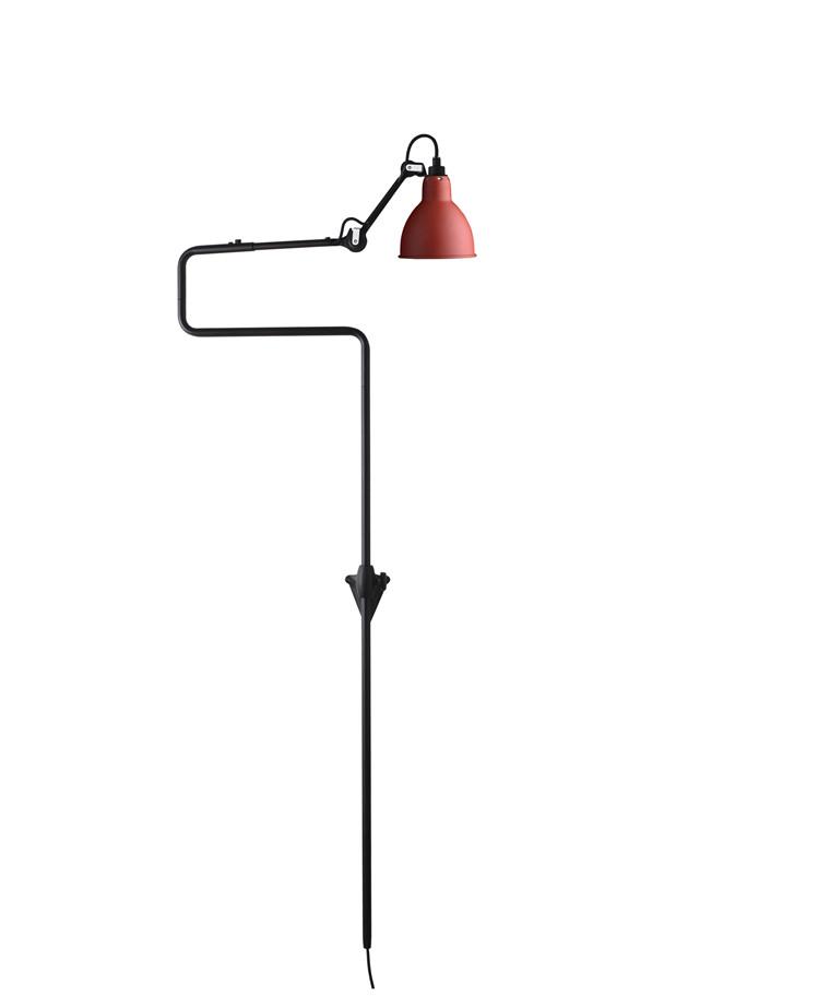 217 Væglampe Rød - Lampe Gras