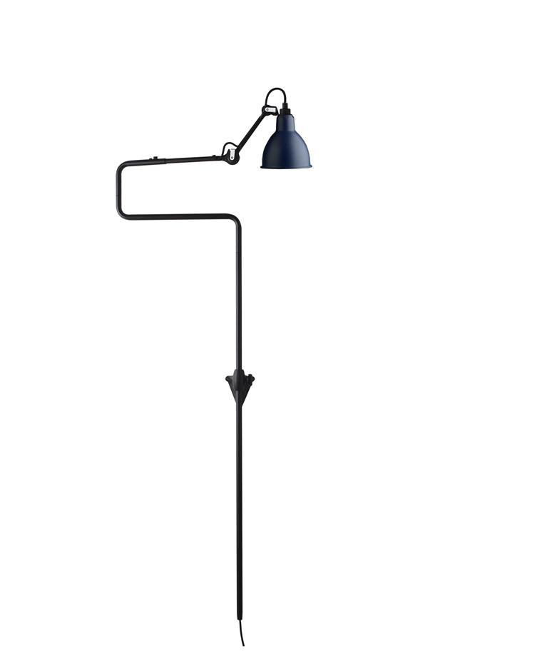 217 Væglampe Blå - Lampe Gras