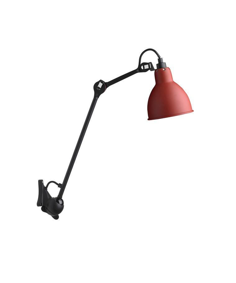 222 Væglampe Rød/Sort - Lampe Gras