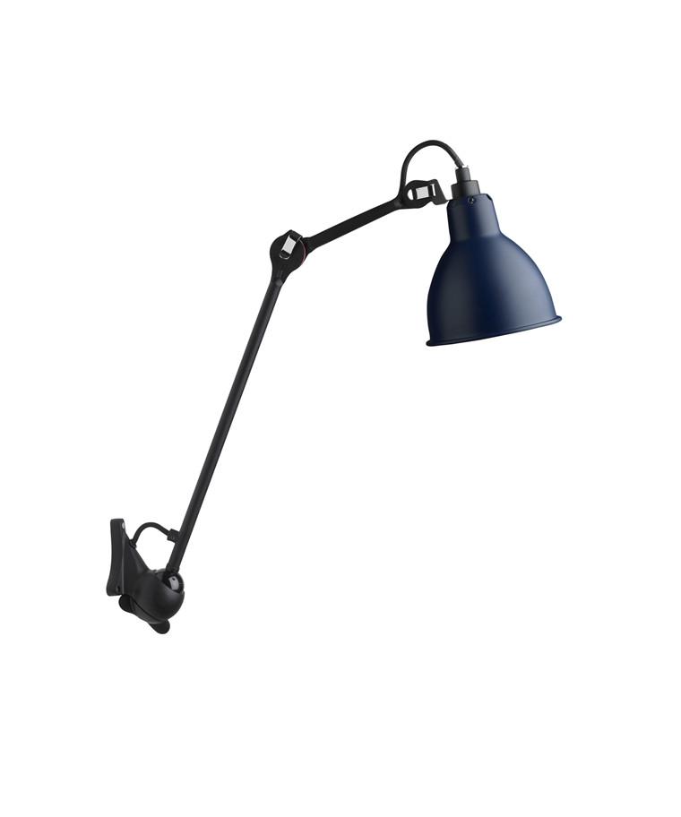 222 Væglampe Blå/Sort - Lampe Gras