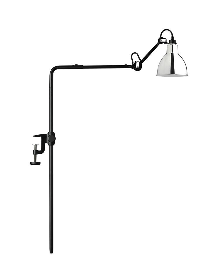 226 Bordlampe/Reol Lampe Krom - Lampe Gras