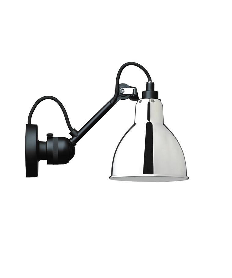 304 Væglampe Sort/Krom - Lampe Gras