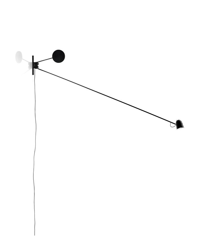 Counterballance Væglampe Sort - Luceplan
