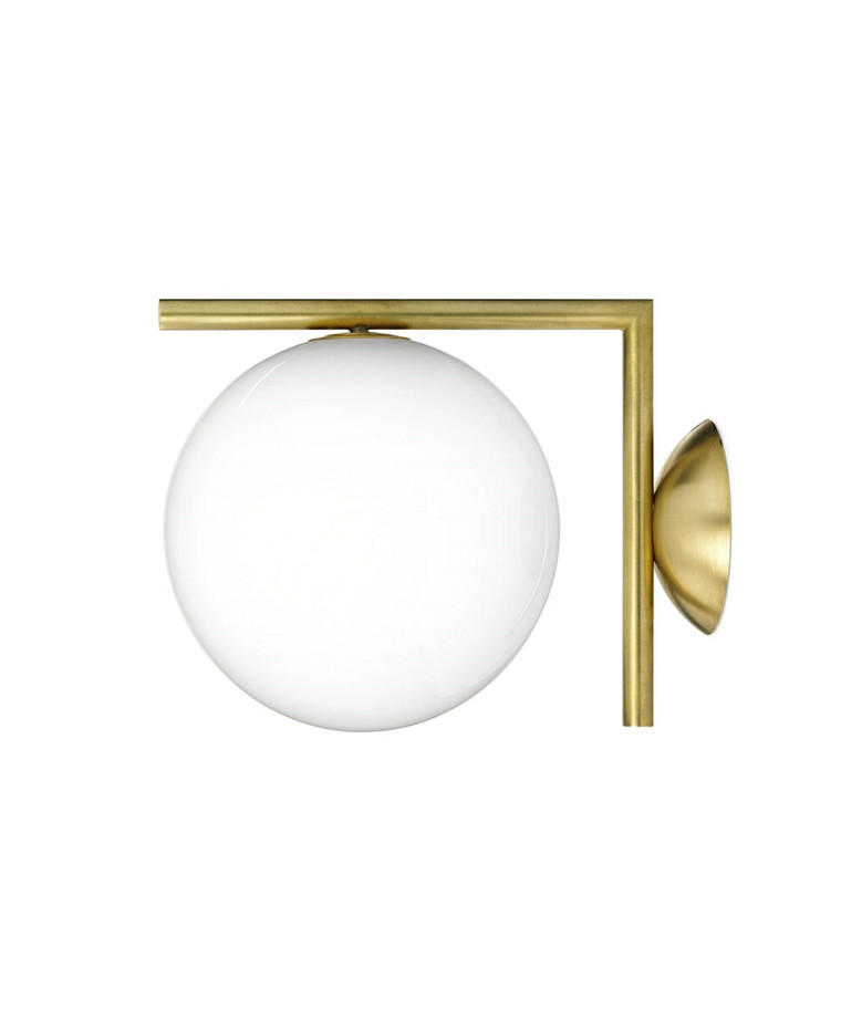 IC C/W2 Væglampe/Loftlampe Messing - Flos