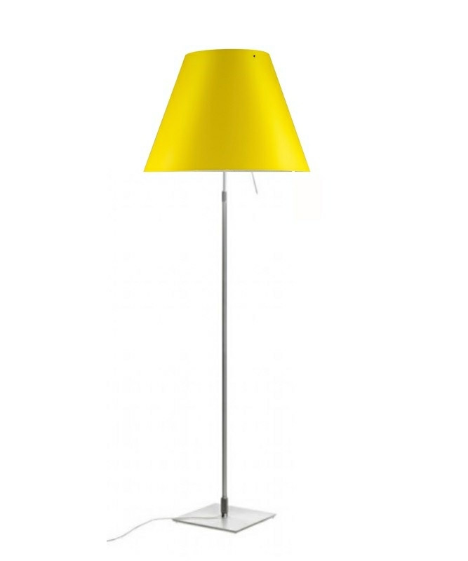 Costanza Gulvlampe m/Dimmer Alu/Smart Yellow- Luceplan