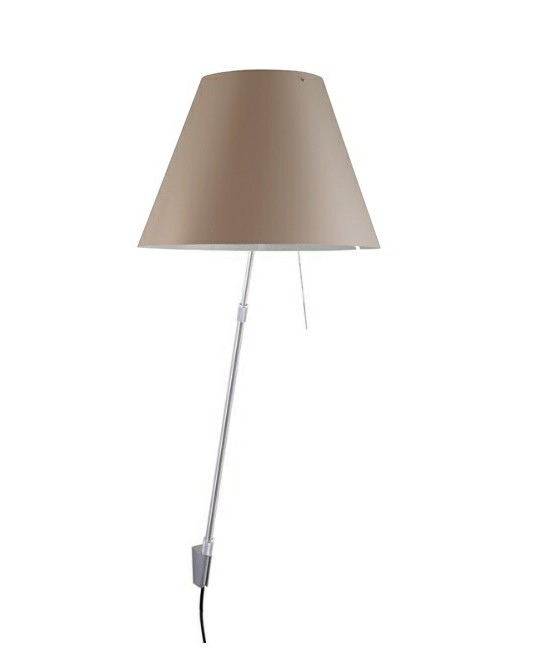 Costanza Væglampe m/Dimmer Alu/Shaded Stone - Luceplan