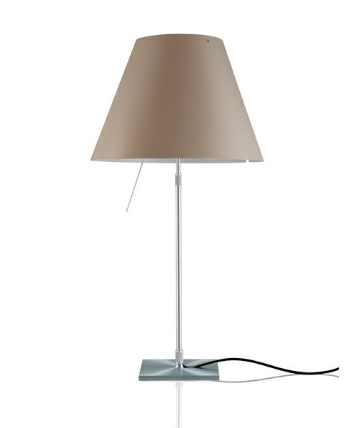 Costanza Bordlampe m/Dimmer Alu/Shaded Stone - Luceplan