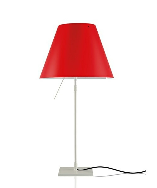 Costanza Bordlampe Alu/Primary Red - Luceplan